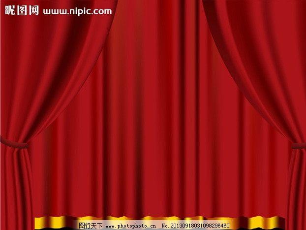 窗帘舞台红色背景图片