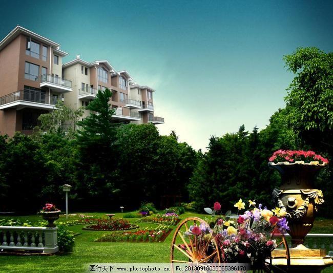 欧式花园图片