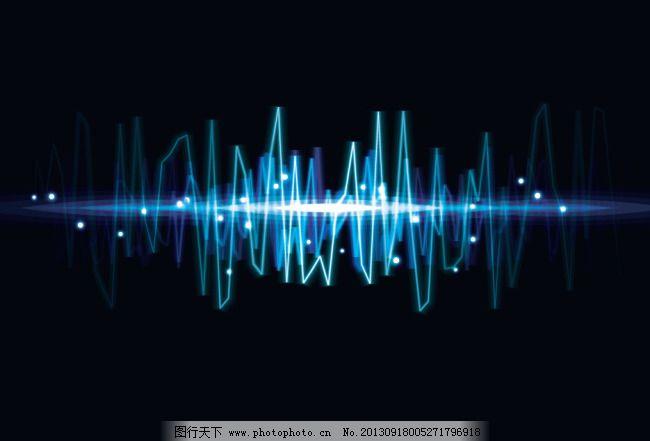 音乐波纹 音乐波纹免费下载 波文 音频 炫丽 矢量图 花纹花边