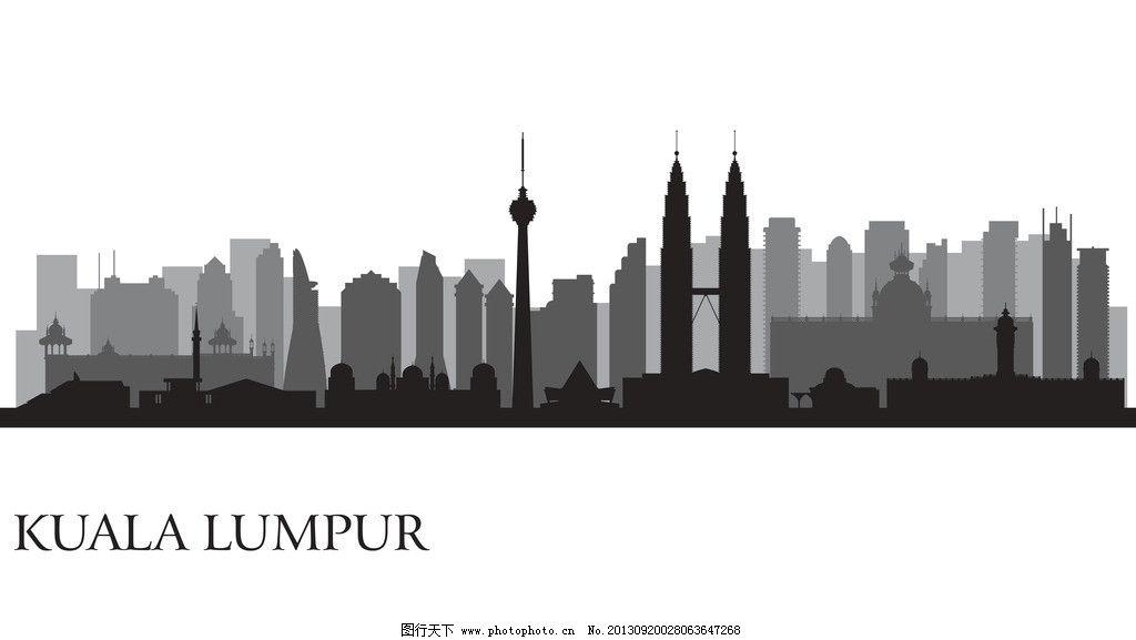 建筑剪影 城市剪影 人物剪影 楼群剪影 楼群 建筑背景 城市背景 高楼