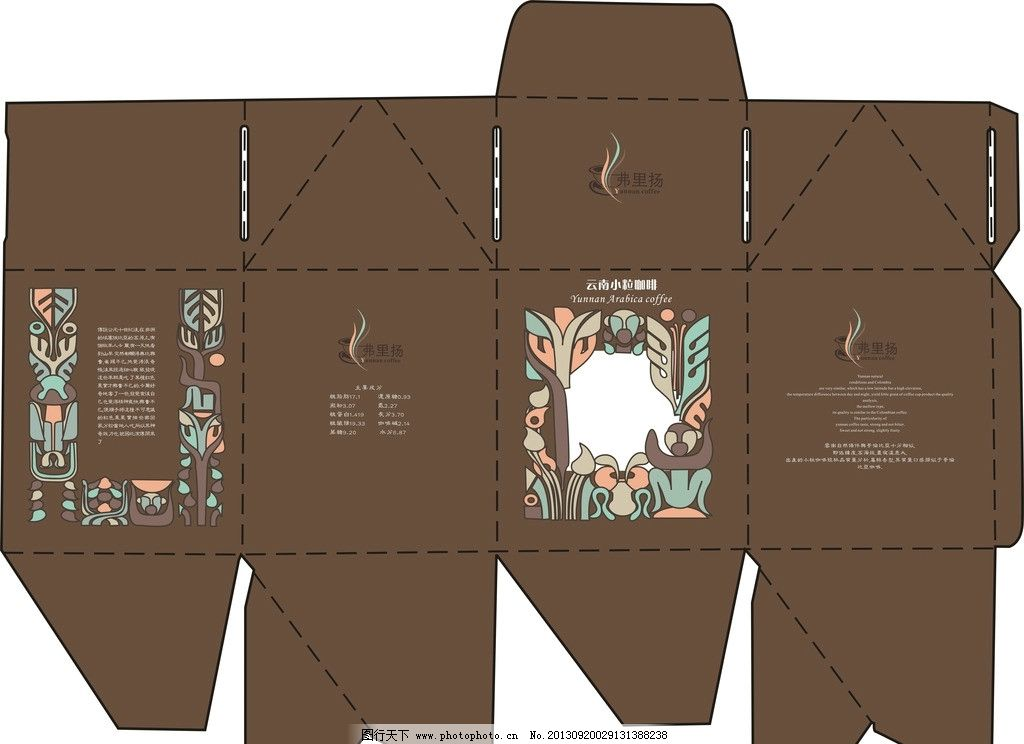 咖啡包装 咖啡 包装 设计 展开图 复古 包装设计 广告设计 矢量 cdr