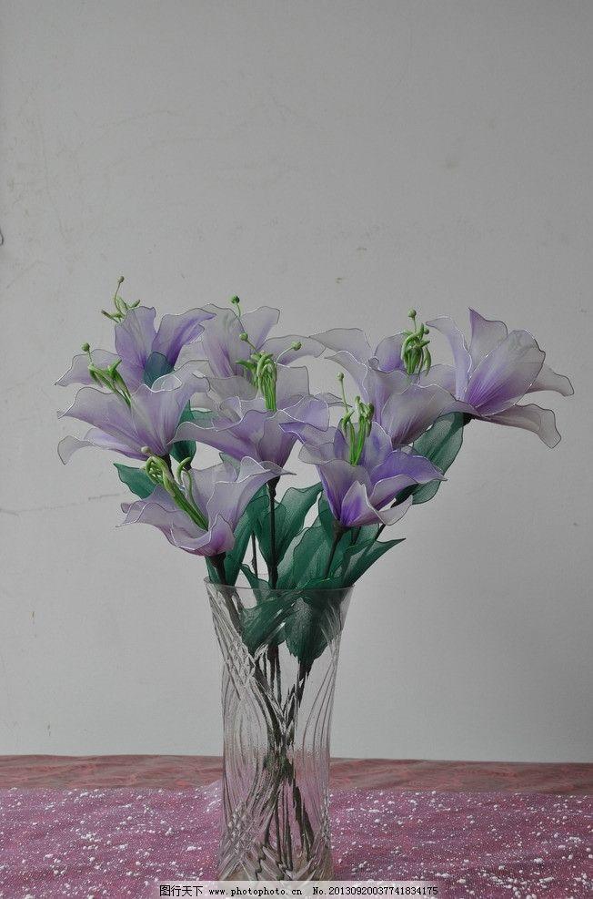 百合花 丝网花 手工花 美丽的花 假花 丝袜花 装饰花 布花 花店