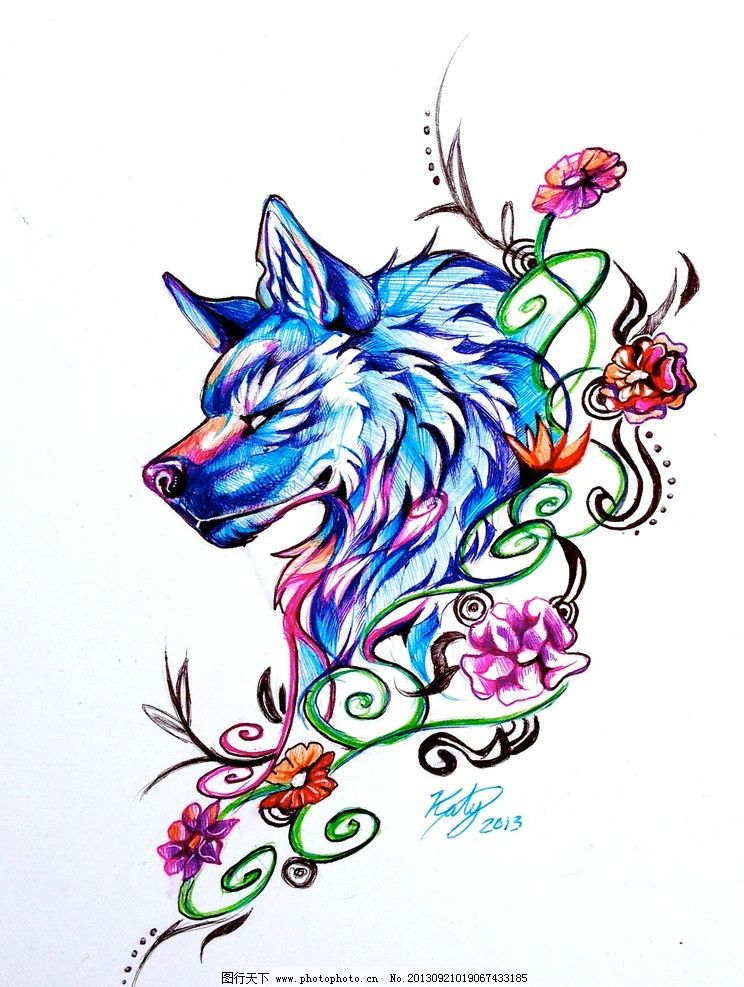拼豆图纸可爱狼