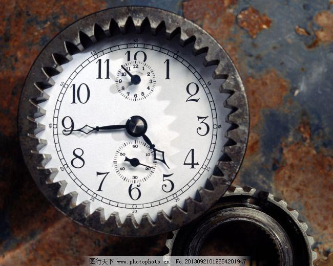 时钟免费下载 齿轮 时钟 齿轮 时钟 时间钟表 图片素材 文化艺术