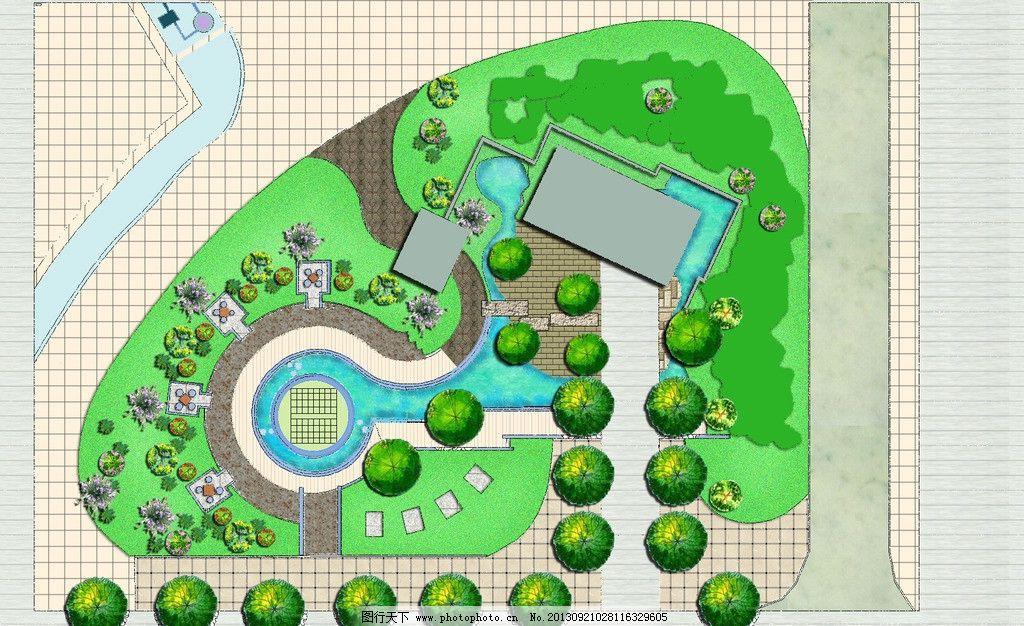 花园平面图 平面图 平面图片 平面设计 平面效果图 psd 源文件 景观
