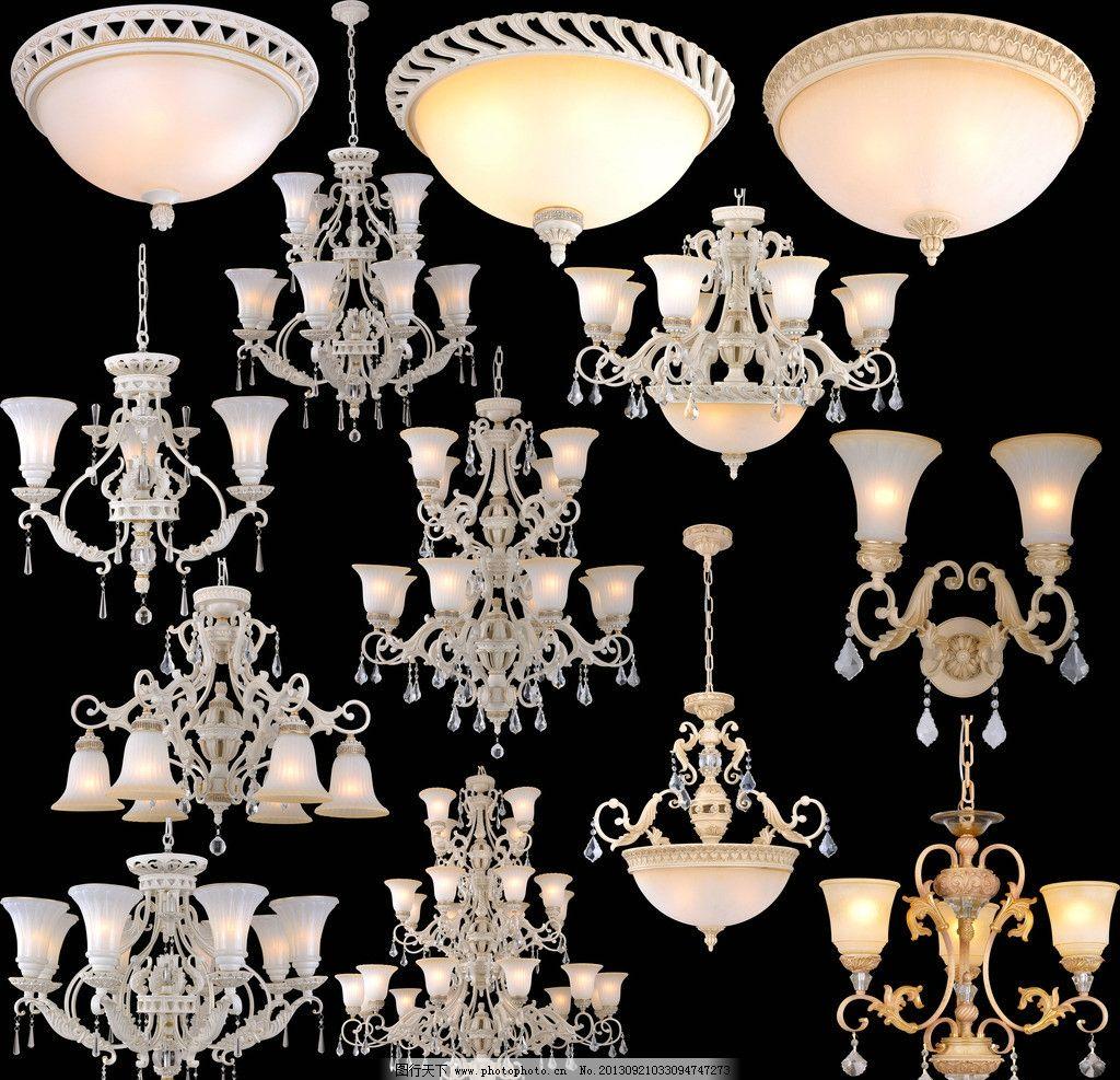 欧式古典水晶灯 欧式 古典 复古 水晶吊灯 吸顶灯 分层 素材 psd分层