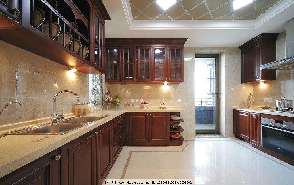 样板房厨房 欧式 大户型 样板间 法式 精装修 室内 室内摄影图片