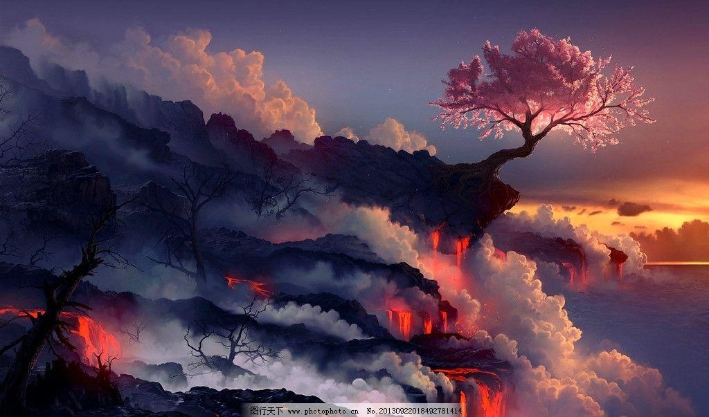风景 天空 壁纸 森林
