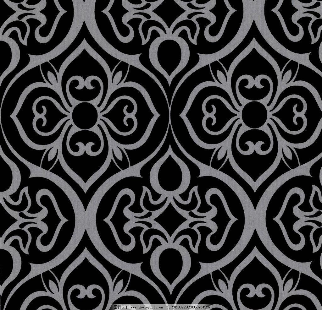 现代壁纸纹理贴图 现代 壁纸 纹理 贴图 材质 黑白色 花边花纹 底纹