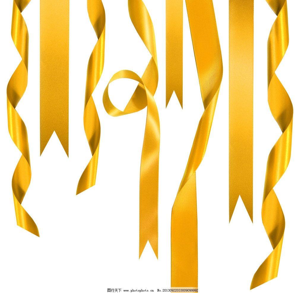 金色丝带图片