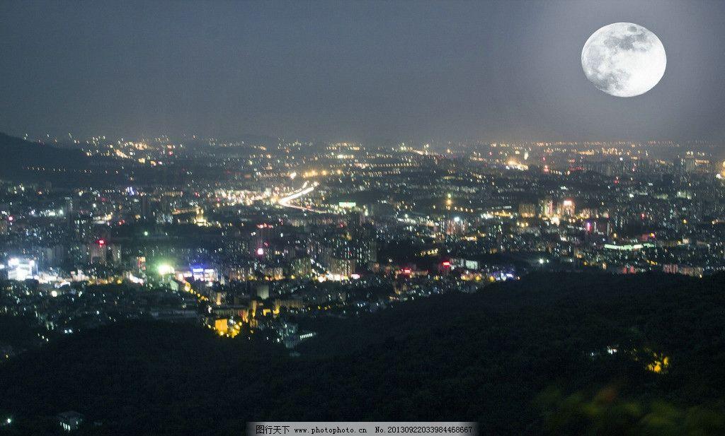 广州白云山 夜景 山顶 鸟瞰 月亮 城市 国内旅游 旅游摄影 摄影 240