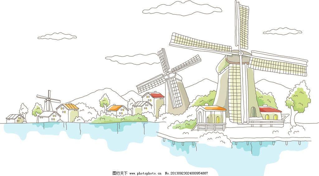 矢量城市风景图片