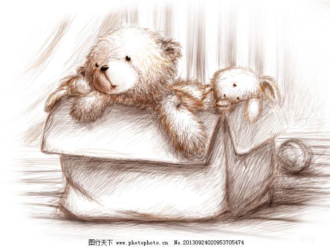 玩具小熊免费下载 布偶 素描 兔子 玩家 熊 素描 玩家 布偶 熊 兔子