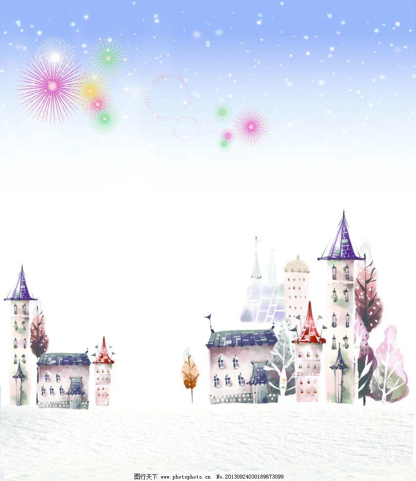 梦幻城堡 移门图案图片