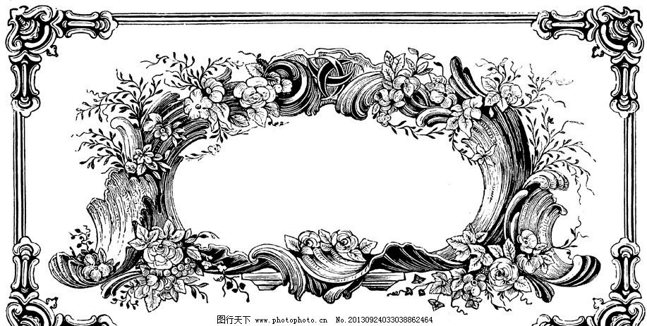 装饰图案 欧式古典 古典主义 黑白图案 欧式底纹 欧式纹理 欧式风格