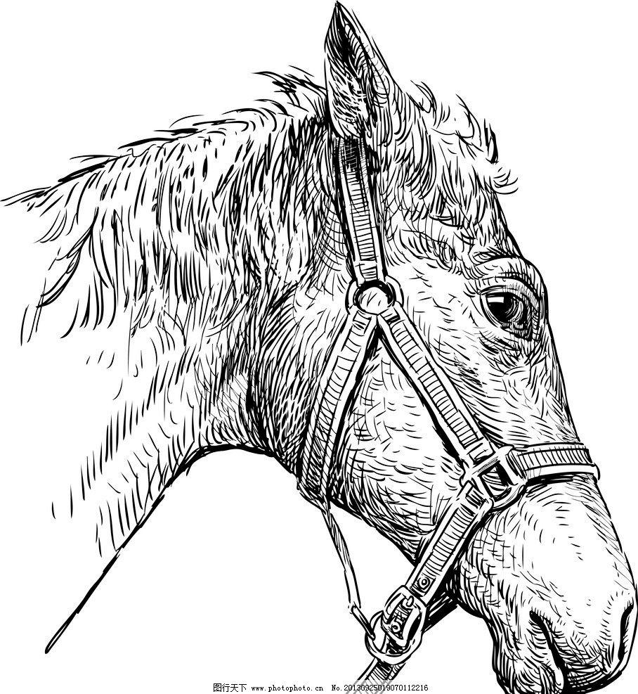 水粉手绘马