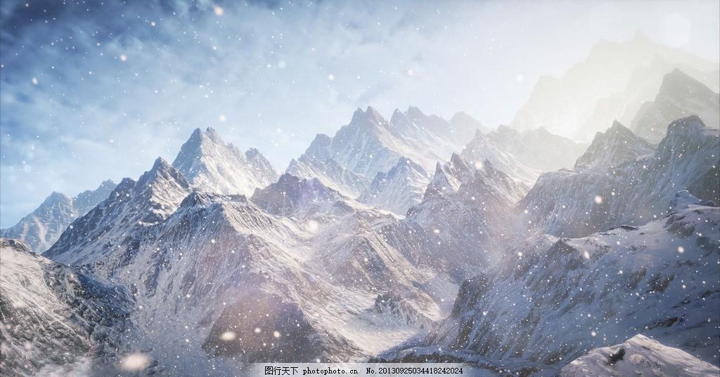 自然景观 山水风景  昆仑山脉 山峰 山谷 高山 山区 大山 蓝天 龙脉