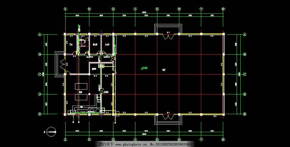 食堂水暖圖 餐廳廚房水暖圖 水暖平面設計 源文件