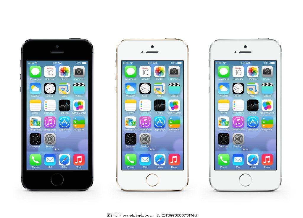 苹果手机 phone5s 苹果手机模板下载 iphone5 黑苹果 白苹果 手机 psd