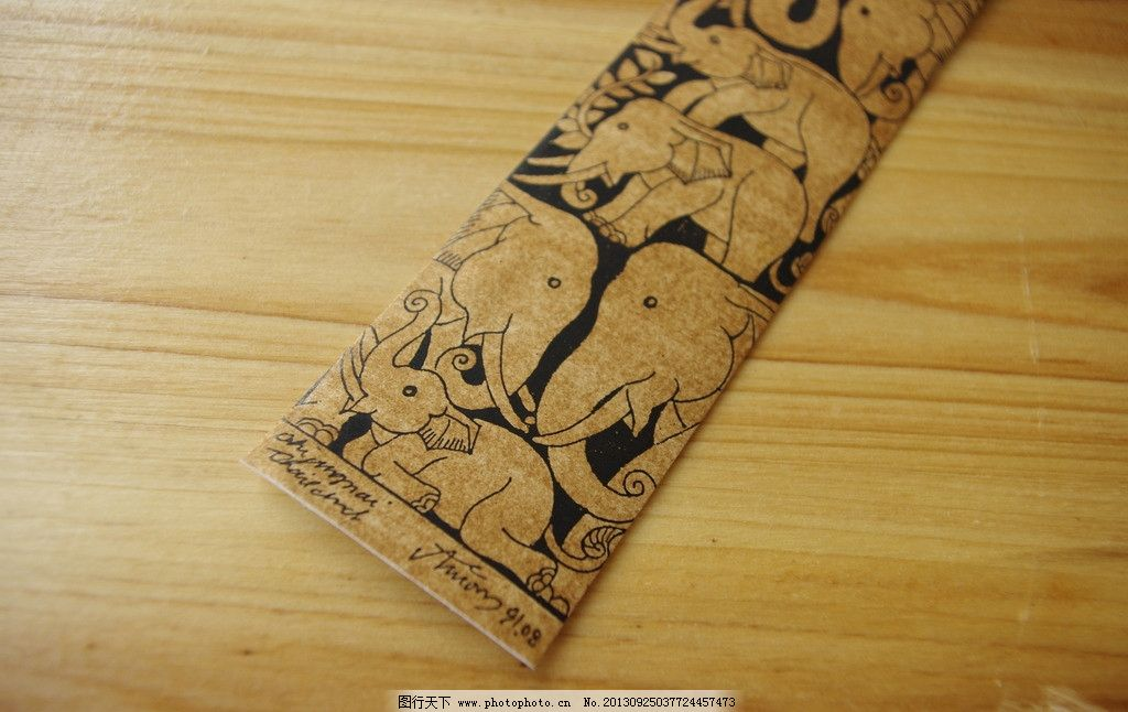 纸质书签 民族风 中国风 纳西族 手绘 东巴纸 手工制作 泰国