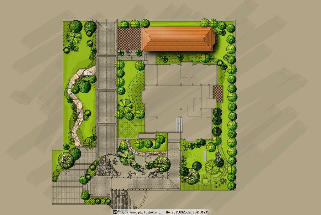 景观平面图图片,公园 建筑 树木 源文件-图行天下图库