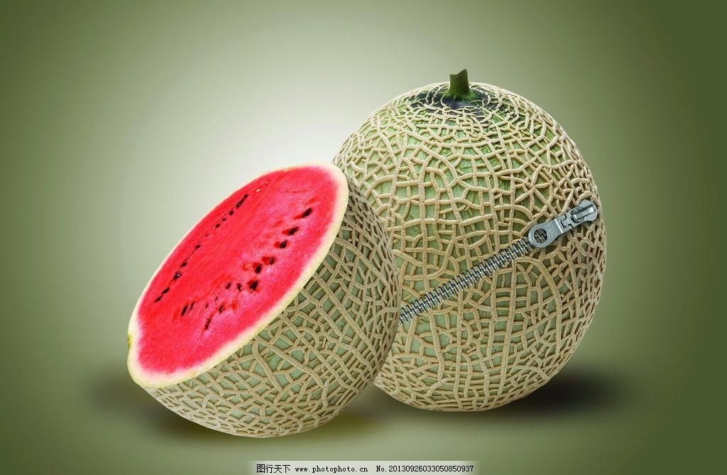 西瓜 西瓜设计素材 西瓜模板下载 西瓜 哈密瓜 水果 拉锁 设计 创意