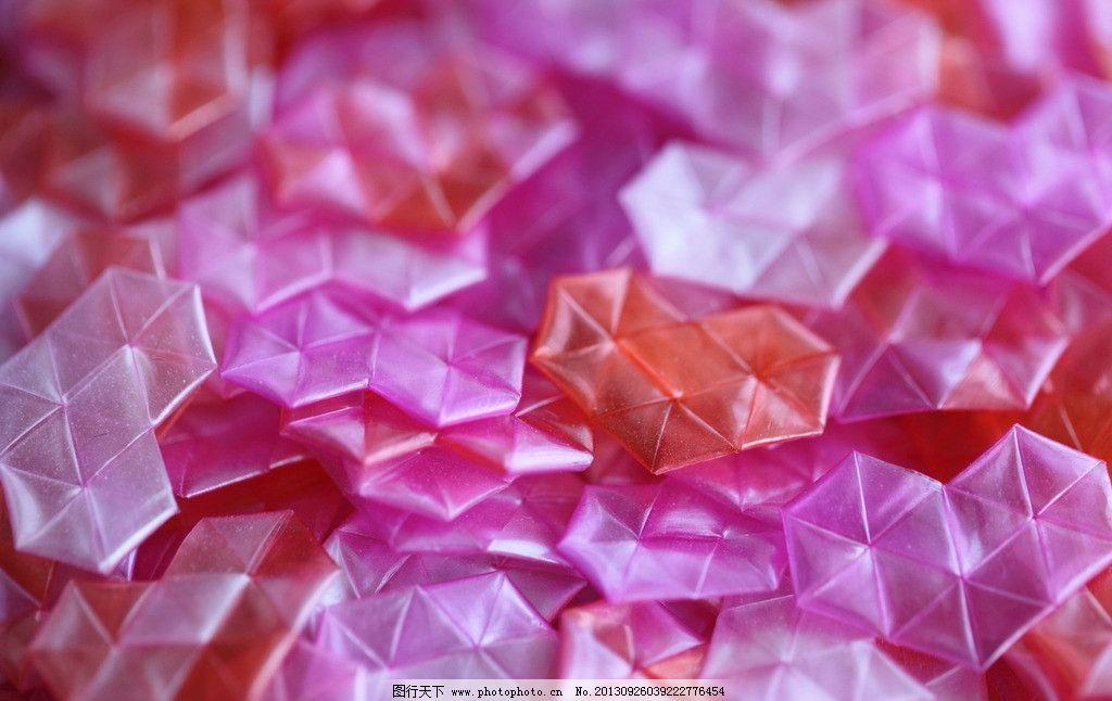 幸运心 心形折纸 创意心形 情感素材 静物 摄影