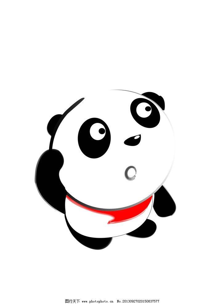 可爱 熊 熊猫 目瞪口呆 卡通设计 矢量 卡通人物 猫 疑问 新年 广告图片