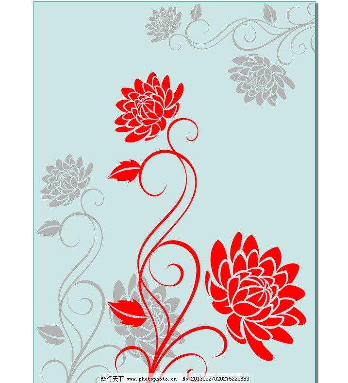 花朵 纹路 花纹 纹理 纹饰 装饰 移门 线条 叶子 牡丹 菊花 背景 窗花