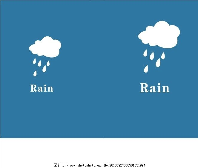 卡通 下雨天图片