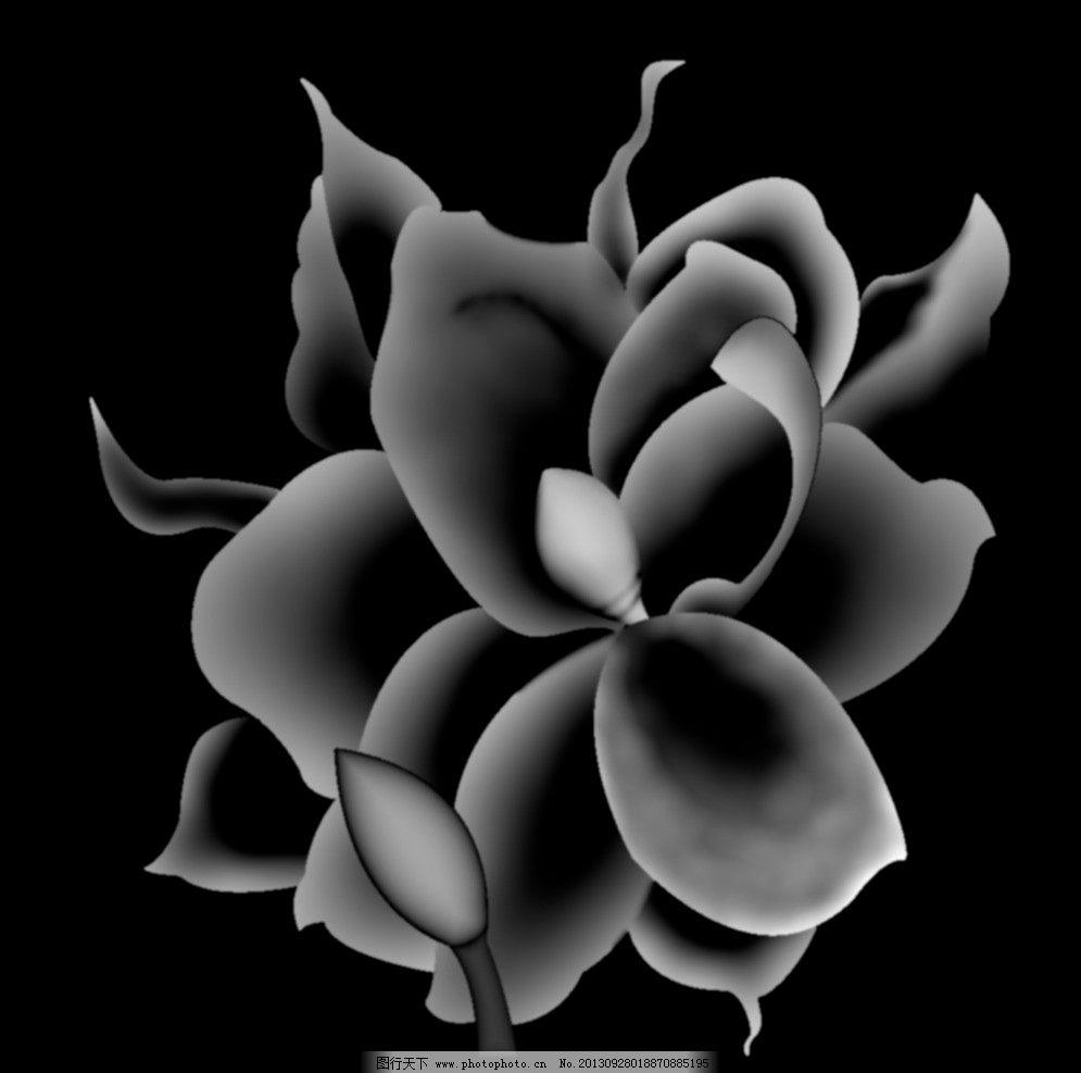 荷花 灰度图 花纹 浮雕 精雕 传统文化 文化艺术 设计 99dpi bmp-灰度图 图片