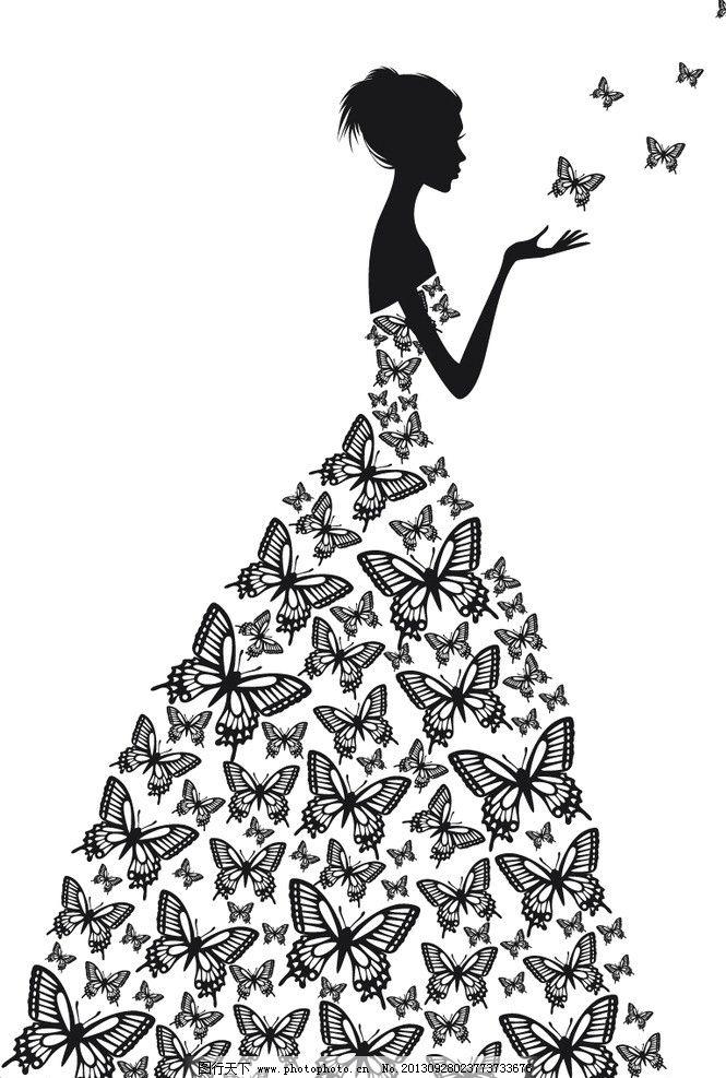 矢量新娘 蝴蝶图片