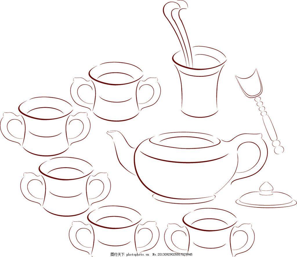 茶壶设计手绘效果图