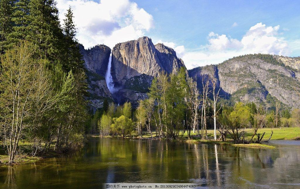 生态景区风景高清摄影 森林 原野 湖泊 大湖 湖水 镜面 蓝天白云 空旷