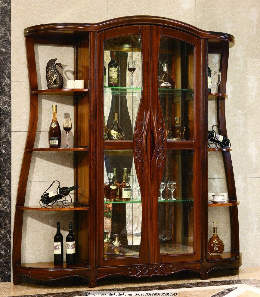 实木酒柜 香河家具 莱克伯爵 欧式家具 红酒 红木酒柜 家居生活