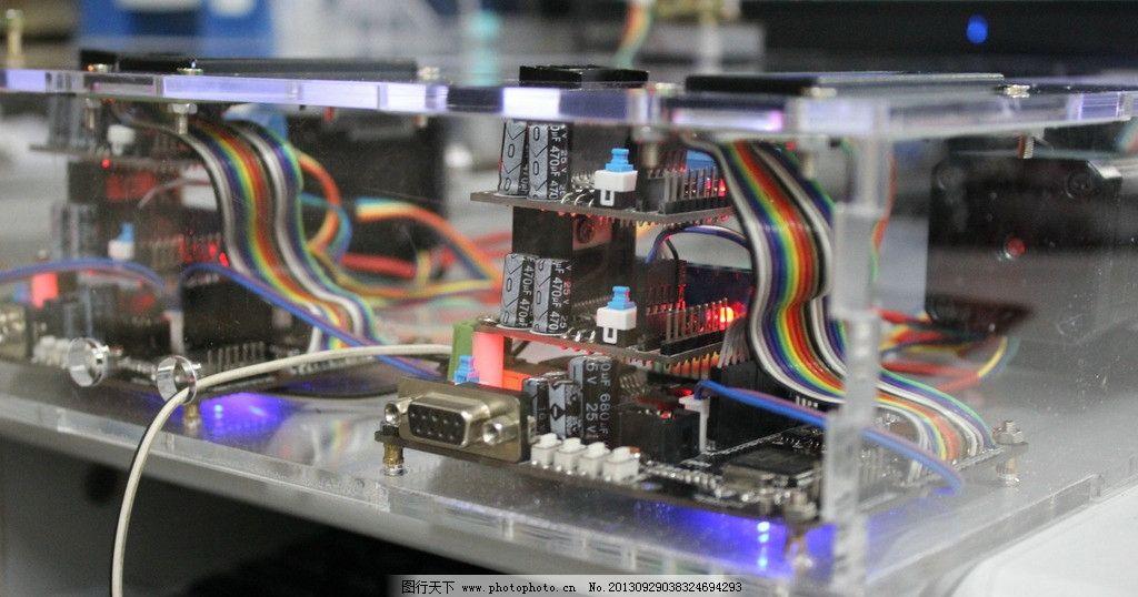 电路实物图 电路图 嵌入式设计 单片机 亚克力玻璃 摄影