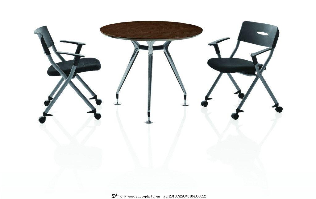 办公桌椅 桌子 椅子 写字台 圆桌子 摄影图片